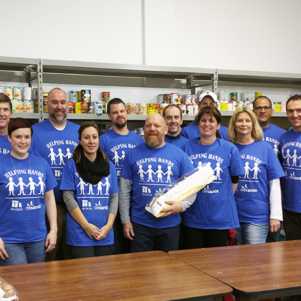 Helping Hands team volunteering at the Food Bank