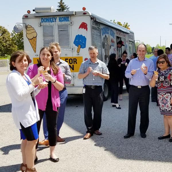 CWB Maxium employees infront of an icecream truck